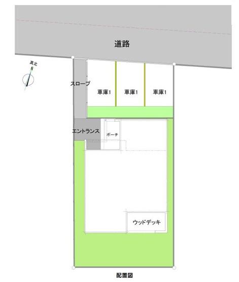 建築プランをご用意しております。詳細はお問い合わせ下さい。こちらは駐車3台可です。