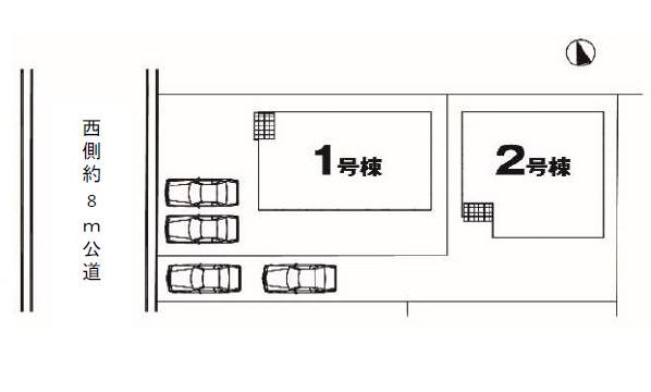 【区画図】高崎市中居町 2号棟