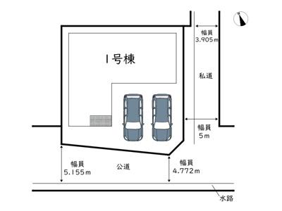 【区画図】姫路市西庄2期/全1棟