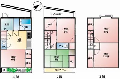 【外観】中古一戸建て住宅