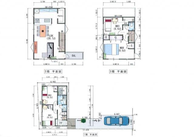 【参考プラン】LDK20帖超えの建築条件売地
