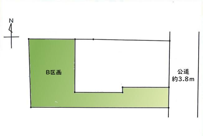 【土地図】LDK20帖超えの建築条件売地