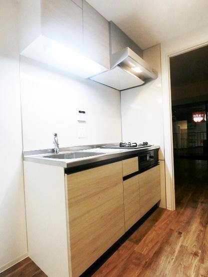 2帖のキッチンスペースです♪☆場所を取るお鍋やお皿もすっきり収納できます♪※参考写真※