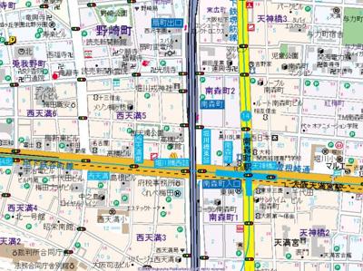 【地図】クリスタルグランツ梅田Ⅱ