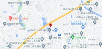 【地図】高槻市岡本町住宅 (株)Roots