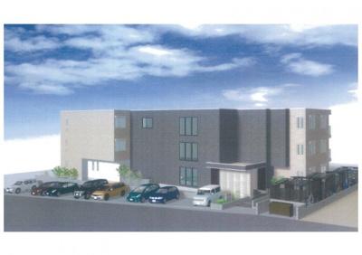 ※外観パース※2021年7月完成!東急田園都市線「たまプラーザ」駅より徒歩圏内♪ペットOK!大和ハウス施工の新築3階建てアパートです☆