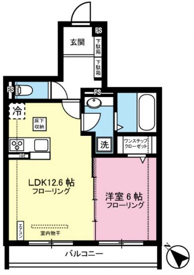 1LDKタイプはキッチンと寝室を分けたい方におすすめです☆カップルさんや新婚さんにも大人気!全室洋室で過ごしやすいですね☆