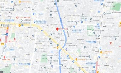 【地図】エムロード玉造
