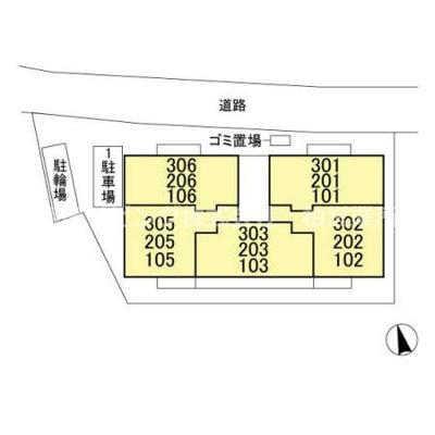 【区画図】AXIS松戸