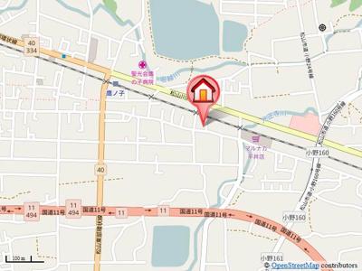 【地図】ステーションハウス久米Ⅱ