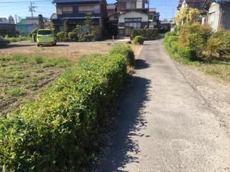 【前面道路含む現地写真】56678 関市平賀町土地