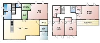 大垣市東町 トヨタホームシンセシリーズの中古戸建て♪ 折板ガレージ付き!駐車場4台可能!南道路!