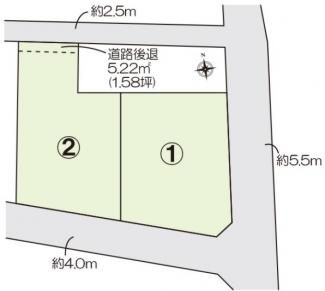 【土地図】北群馬郡吉岡町売地 ①区画