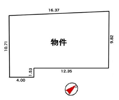 【区画図】建築条件なし売地/ふじみ野市亀久保2丁目