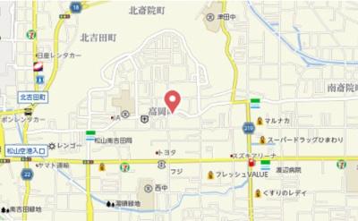 【地図】仮)高岡町アパート