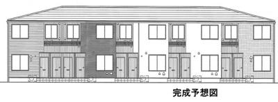 【外観パース】高岡町アパート