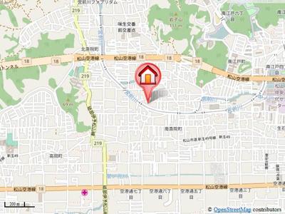 【地図】コーポ・サウスウインド