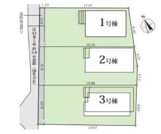 高浜市呉竹町2期新築分譲住宅全体区画図です。