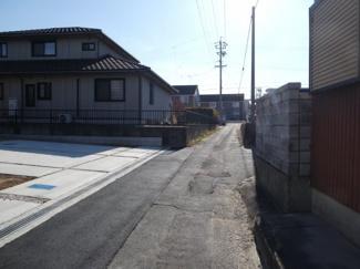 高浜市呉竹町2期新築分譲住宅前面道路写真です。西側公道約2.8m