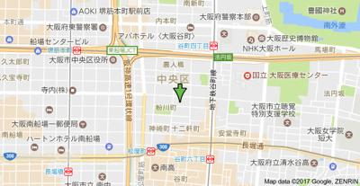 【地図】アーバネックス谷町Ⅱ