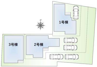 【区画図】池田市緑丘2丁目 新築戸建 3号棟