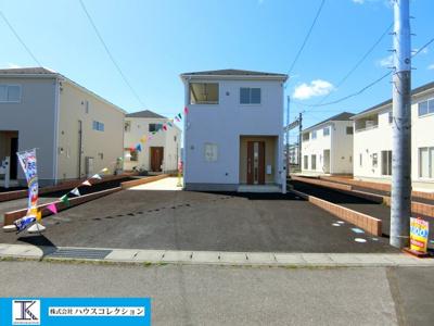 【前面道路含む現地写真】土浦市湖北第2 新築戸建 2号棟