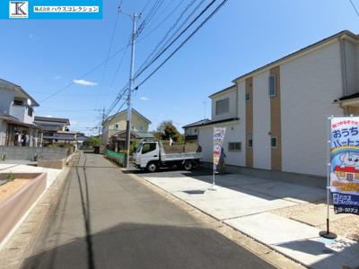 【前面道路含む現地写真】土浦市若松町Ⅰ 新築戸建 全3棟