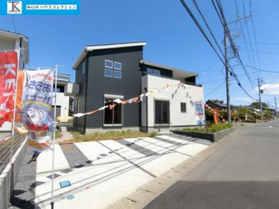 【前面道路含む現地写真】土浦市木田余東台7期 新築戸建 5号棟