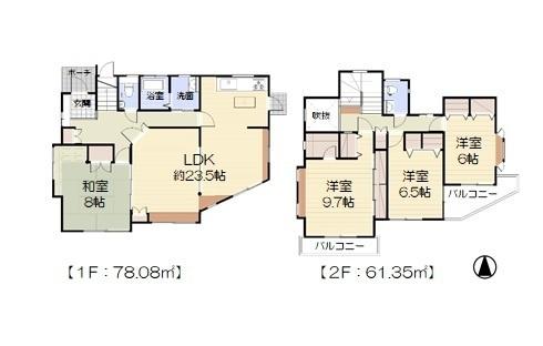 42坪の4LDK・居室は6帖以上収納付き