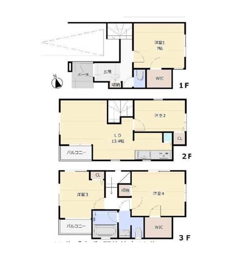 土地面積59.49平米 建物面積90.10平米  収納付きの使い勝手の良い間取りです!
