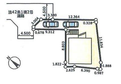 【区画図】藤沢市円行 戸建