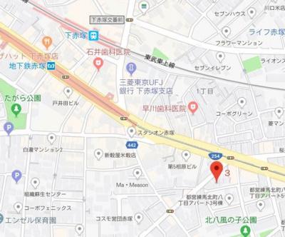 【地図】ファーレ赤塚