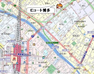 【地図】Eコート博多