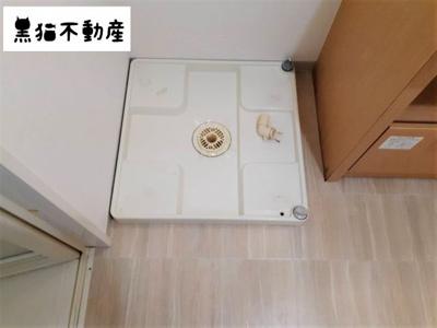 室内へ洗濯機が設置できます。