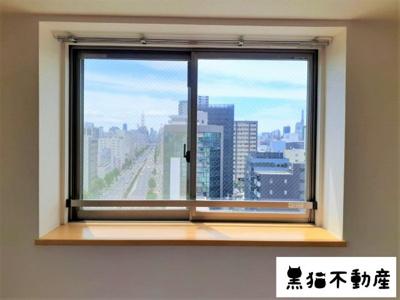 出窓から見える景色もきれいですね。