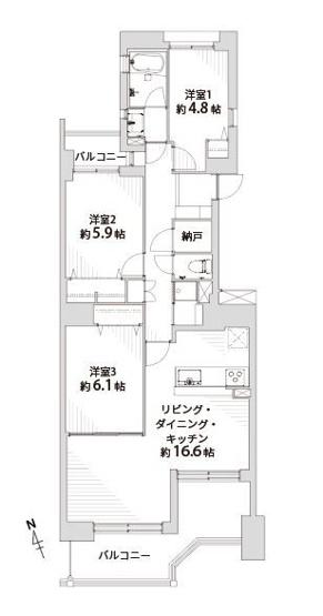 のむら貝塚ガーデンシティ 5番館