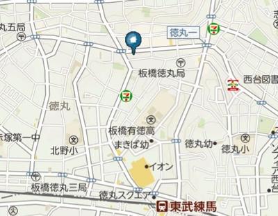 【地図】ソライロ徳丸(ソライロトクマル)