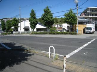 道路をはさんだ歩道からの写真です。