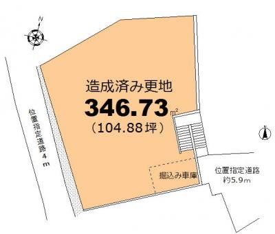 【区画図】甲陽園東山町:104坪