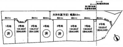 【区画図】大津市下阪本5丁目7 分譲地
