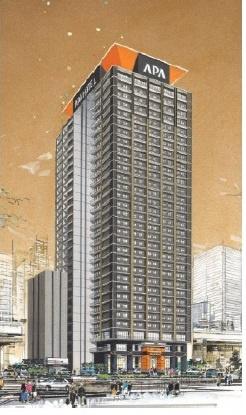 【外観パース】アパホテル&リゾート(大阪梅田駅タワー)