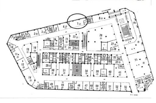 【区画図】大阪駅前第4ビル