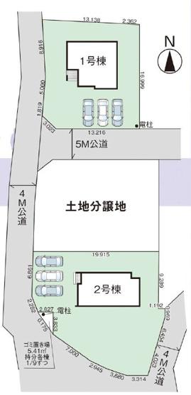 【区画図】富岡市上高瀬 1号棟