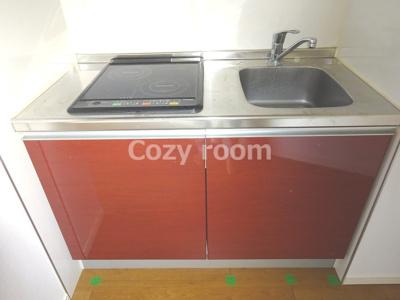IH2口コンロ付システムキッチンです。