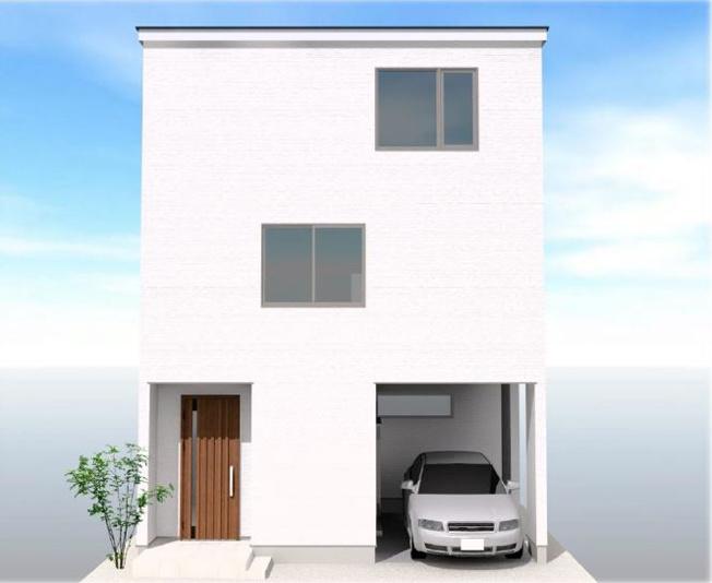 ◇Appearance◇外壁はニチハ製サイディングを標準採用。耐火仕様・セルフクリーニング機能付きのマイクロガード仕様でメンテナンスコストも大幅削減!【3階外観パース】