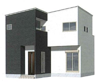 【外観パース】神戸市西区長畑町 新築一戸建て