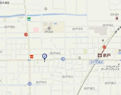 【地図】レジデンス余戸・