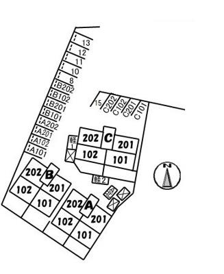 【区画図】ラ・ベルターナⅡ C棟