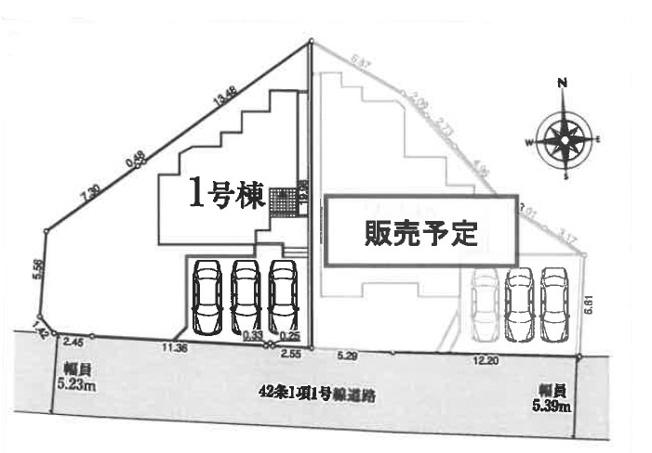 【区画図】安中市中宿 1号棟