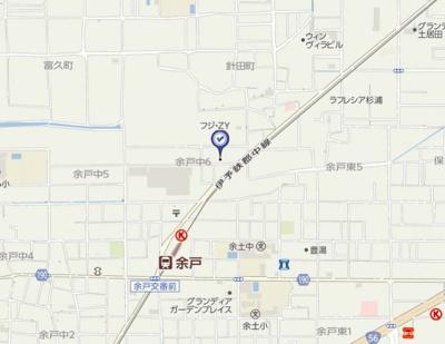 【地図】リバティ余戸